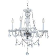 Hampton Bay 4-Light Chrome and Clear Crystal Chandelier-EC-4 SL at The Home Depot