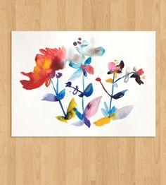 Island Floral Watercolor - No. 1 art print