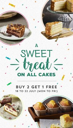 Starbucks Cakes Buy 2 Get 1 FREE Singapore Promotion 18 to 22 Jul & Conditions: *Mix and match for your perfect pairing, while stocks last. Food Graphic Design, Food Menu Design, Food Poster Design, Restaurant Menu Design, Web Design, Cookie Dough Cake Pops, Starbucks Cake Pops, Food Promotion, Cake Pops How To Make
