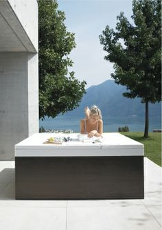 cover over jacuzzi. something like this on balcony