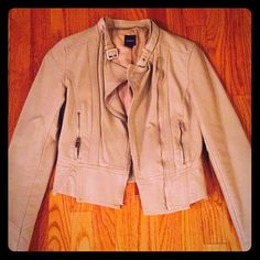 Faux ivory leather jacket great condition! Worn one or two times great fitting express faux leather jacket. Express Jackets & Coats