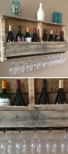 Natural Reclaimed Wood Wine Rack | Home Dining & Barware