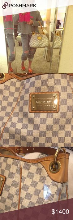 LV GALLERY PM  AUTH Azur Damier Gallery PM LV- Good Used Condition! Just Posting for now as still using her but will list for sell when ready. LOVE HER  Louis Vuitton Bags