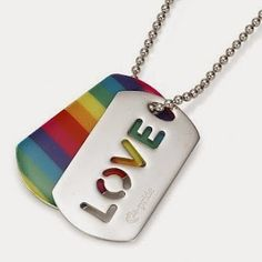 Silver and Rainbow Enamel LOVE Tags I want this so bad! Love Tag, Accesorios Casual, Floral Illustrations, Cute Jewelry, Jewlery, Women's Jewelry, All You Need Is Love, Gay Pride, Watch Bands