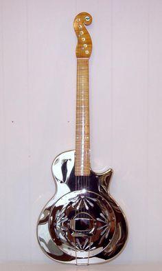 Image Detail for - Staufer Singlecone cutaway Resonator guitar