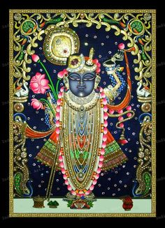 Indian Royal Arts - Tanjore Paintings SriNath JI