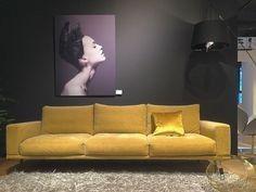 Boconcept Sofa, Sofas, Yellow Home Decor, Shades Of Yellow, Studio, Armchair, New Homes, Furniture, Gold Futures