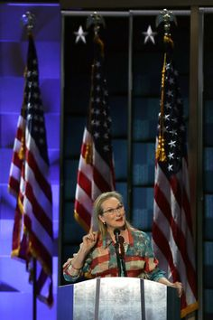 Pin for Later: Meryl Streep Wore the American Flag Dress Even Miranda Priestly Would Approve Of