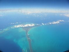 Freeport, Nassau~ Flying over the Islands en route to the Dominican Republic.