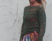 green sweater / green lightweight oversized grunge sweater / LTD Edition in this shade