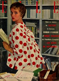 Couverture de Elle n° 553 du 30 juillet 1956 - Veste Jacques Fath - photo Kazan
