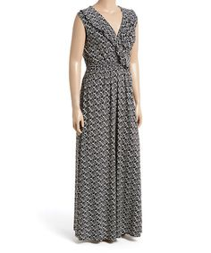 Love this Black & Ivory Ruffle Maxi Dress - Plus on #zulily! #zulilyfinds