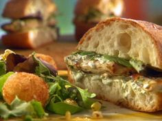 "Get this all-star, easy-to-follow The Real ""Dill"" Chicken Sandwich recipe from Sunny Anderson"