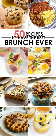 EVERYONE LOVES BRUNCH and that's a fact. Here's 50 recipes to add to your next brunch party -- perfect for Easter too!