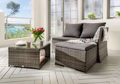 lounge set Cardone made of poly rattan with PolsterWayfair.de lounge set Cardone made of poly rattan with PolsterWayfair. Loft Living, Outdoor Furniture, Outdoor Sectional Sofa, Outdoor Decor, Furniture, Outdoor Sofa, Lounge, Outdoor Lounge Furniture, Outdoor Furniture Sets