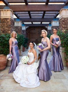 Wedding Bouquets: Bridesmaids bouquets were made of peonies, purple hydrangea, freesia, cabbage roses and lisianthus. Brides bouquet had the same flowers but in an all white version.