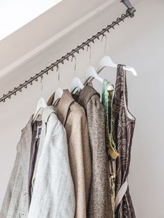 Zebedee - The original off the shelf Sloping Clothes Rail now available in Bronze - perfect for rustic or contemporary decorated loft or dormer bedrooms.