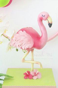 Let's flamingle by Milene Habib Flamingo Cake, Flamingo Decor, Flamingo Birthday, Flamingo Party, Pink Flamingos, Hawaii Cake, Anti Gravity Cake, Hawaian Party, Aloha Party
