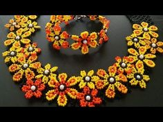 Making Daisy Necklace - Part Seed Bead Tutorials, Beading Tutorials, Beaded Jewelry Patterns, Beading Patterns, Handmade Bracelets, Beaded Bracelets, Handmade Jewelry, Daisy Necklace, Bead Earrings