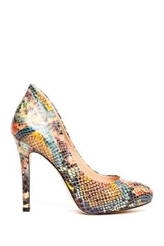 Sole Society Cameron Snake Print Heel by Saturday Shoe Finds on @HauteLook