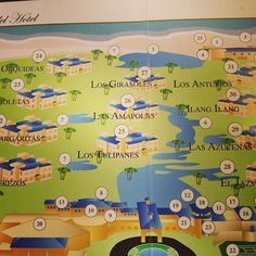 Royal hideaway villa map with numbers #royalhideaway