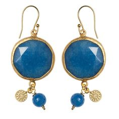 Blue jade earrings!!