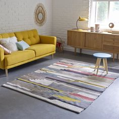 Akenza wool and cotton rug La Redoute Interieurs My Living Room, Home And Living, Living Room Furniture, Living Room Decor, Home Furniture, Cool Rugs, Home Decor Styles, Home Decor Inspiration, Home Accessories