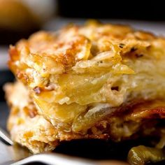 This is how I make our potato leek gratin at LGKitchen except I use coconut…