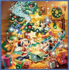 Mickey and His Friends Special Christmas Images Disney Merry Christmas, Disney Christmas Decorations, Noel Christmas, Christmas Animals, Christmas Images, Christmas Crafts, Mickey Mouse And Friends, Mickey Minnie Mouse, Disney Love