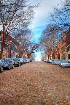 Cobblestone Street--Prince Street, Alexandria, Virginia