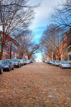 Cobblestone Street, Alexandria, Virginia