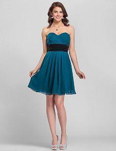 Wholesale Bridesmaid Dresses Budget - Buy Sweetheart Knee-length Bridesmaid Dress /Homecoming Dress/Cocktail Dress, $59.0   DHgate