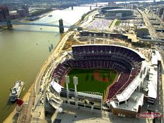 The Great American Ballpark--a huge improvement from the former Cenergy Field. Home to the Cincinnati Reds.