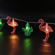 Popular Flamingo and Cactus led string lights for Kids Baby Bedroom Decoration 1.65M 10LED Room Background Lamp Birthday Banner -in LED String from Lights & Lighting on Aliexpress.com | Alibaba Group