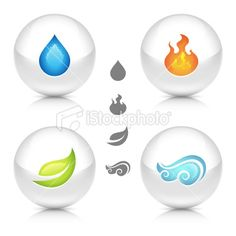 Four Elements Of Nature Royalty Free Stock Vector Art Illustration