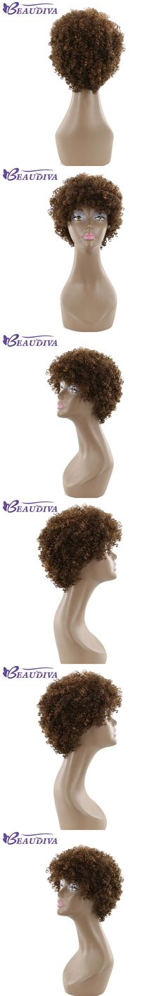 """Beaudiva Pre-Colored P4/30 10"""" Short Human Hair Wigs Hair Extensions Wigs Brazilian Afro Kinky Curly Non-Remy Wigs For Women"""