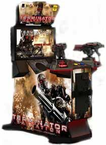 """Terminator Salvation Gun Arcade Game  terminator salvation gun game Terminator Salvation 32"""" is a thrilling and action packed arcade shooter. Designed with a 32"""" LCD, Terminator Salvation 32"""" offers the same Hi-Def graphics and In-Your-Face action as the 42"""" version, and features a new stationary gun system for improved control over game play. The cabinet is sleek; its attractive lighting accents guarantee to make this game a standout in any location and one of the top performers in…"""