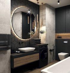 Bathroom Design Luxury, Modern Bathroom Design, Modern House Design, Home Room Design, Dream Home Design, Loft Design, Interior Design Career, Bathroom Design Inspiration, Design Ideas