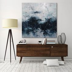 Interior styling | Interior photography | Interior decor | Interior design | Photo styling | Prop styling | artwork | https://www.etsy.com/listing/184277263/large-abstract-seascape-painting-palette