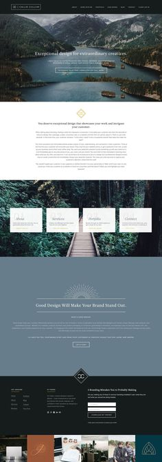 Modern, clean, and moody website design. Graphic & web designer Callie Cullum. Small business branding. | Design and branding by Callie Cullum.