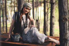Купить Платье вязаное Лесная Нимфа - люрекс, серебряный, платье в пол, платье вечернее