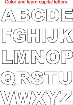 Capital letters coloring printable page for kids: Alphabets coloring printable pages for kids