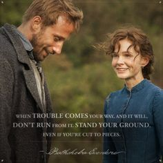 Strength, determination and mettle are a few words that define the literary heroine of Thomas Hardy's novel FAR FROM THE MADDING CROWD, Bathsheba Everdene, played by Carey Mulligan. Though rash and impulsive, she is a resilient literary treasure that. Romance Puro, Far From Madding Crowd, Carrie Mulligan, Gabriel Oak, Matthias Schoenaerts, Film Serie, Period Dramas, Movie Quotes, Selfie Quotes