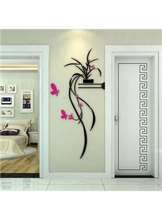 Best Selling Stunning Orchid and Butterfly 3D Wall Sticker #home decor #wall art #3d wall stickers