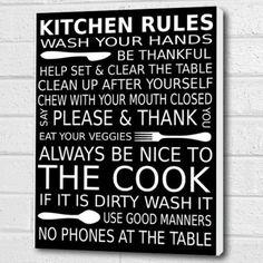 Kitchen Rules Wall Art Box Canvas - Black - A3 12x16 inch Cheryl Monaghan http://www.amazon.co.uk/dp/B00VQ8C57G/ref=cm_sw_r_pi_dp_aIltvb0G8MAW4