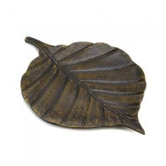 Accent Plus 10015384 Avery Leaf Decorative Tray