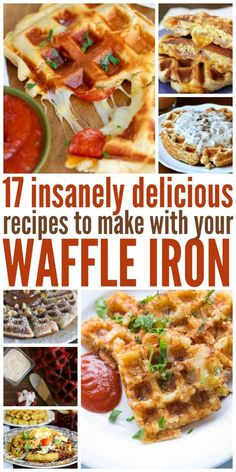 17 Insanely Delicious Waffle Iron Recipes (Not Just Waffles!) - Waffle Maker - Ideas of Waffle Maker - Waffle irons can make more than just waffles. Here we have just a few of the many different recipes you can make with your waffle iron. Crepes, Poffertjes, Waffle Maker Recipes, Eggs In Waffle Maker, Delicious Desserts, Yummy Food, Healthy Food, Raw Food, Gastronomia