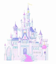 Disney Princess Castle Peel & Stick Giant Wall Decal....too bad you have to put the stickers together, like a puzzle.