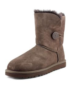 UGG AUSTRALIA | Ugg Australia Bailey Button Women  Round Toe Suede Brown Winter Boot #Shoes #Boots & Booties #UGG AUSTRALIA