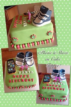 Converse shoe & iPhone Cake Design for teens
